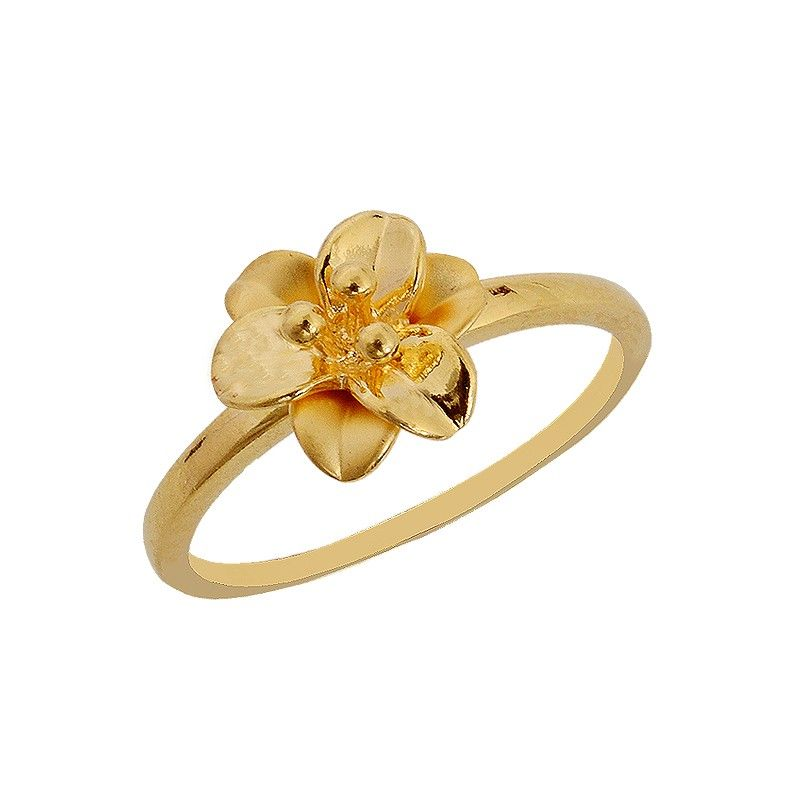 Flower Gold Ring   Rings and Things   Pinterest   Gold rings, Ring ...
