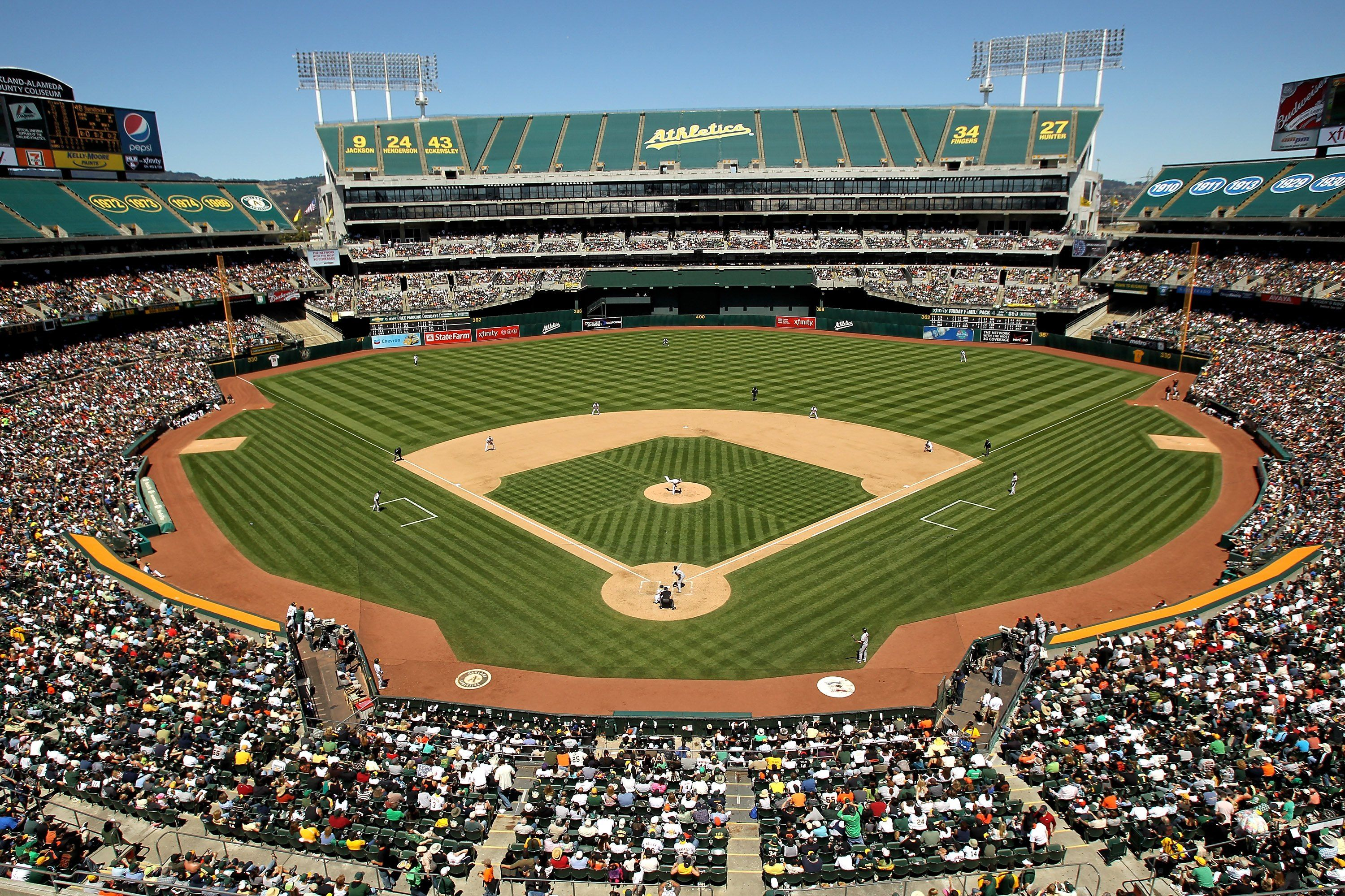O Co Coliseum Athletics Com Ballpark Oakland Coliseum Baseball Park Mlb Stadiums