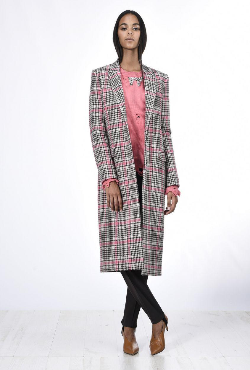 Cappotto vichy a quadri rosa Pinko tendenze inverno 2018  7e43cf66d89