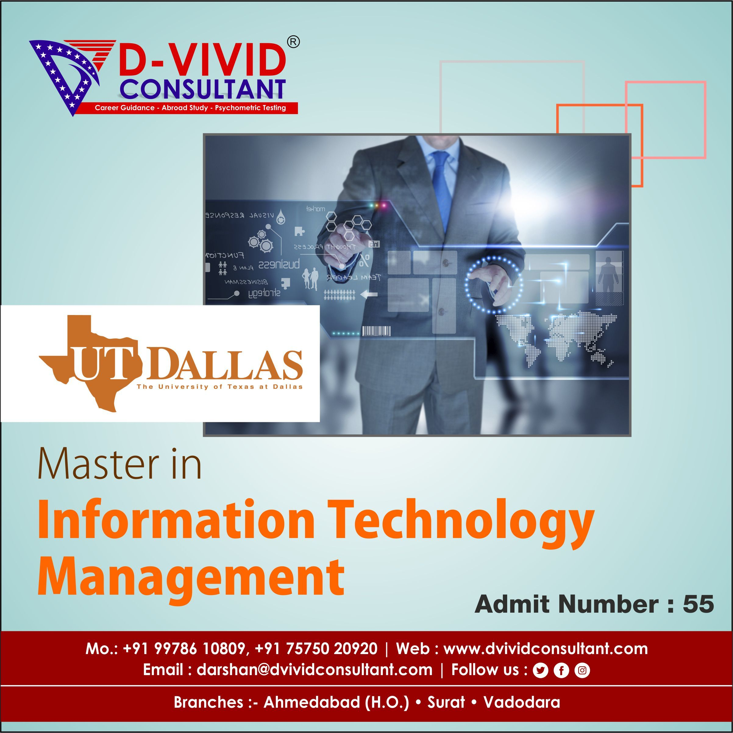 Admit Number 55 In 2020 Technology Management Information Technology The University Of Texas At Dallas