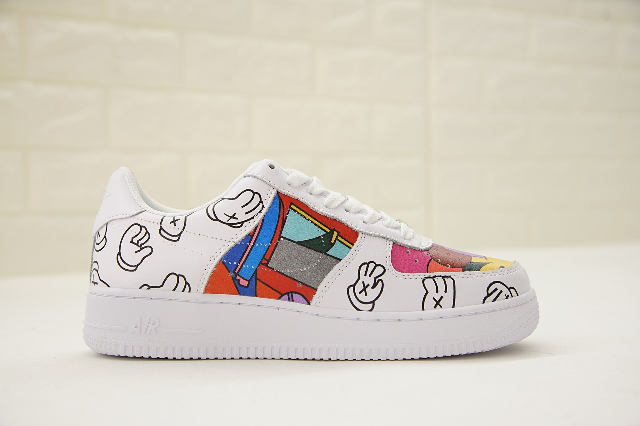 promo code 0bb03 b757e KWAS X NIKE AIR FORCE 1 LOW CUSTOM MADE DESIGN SPONGEBOB FIGURED
