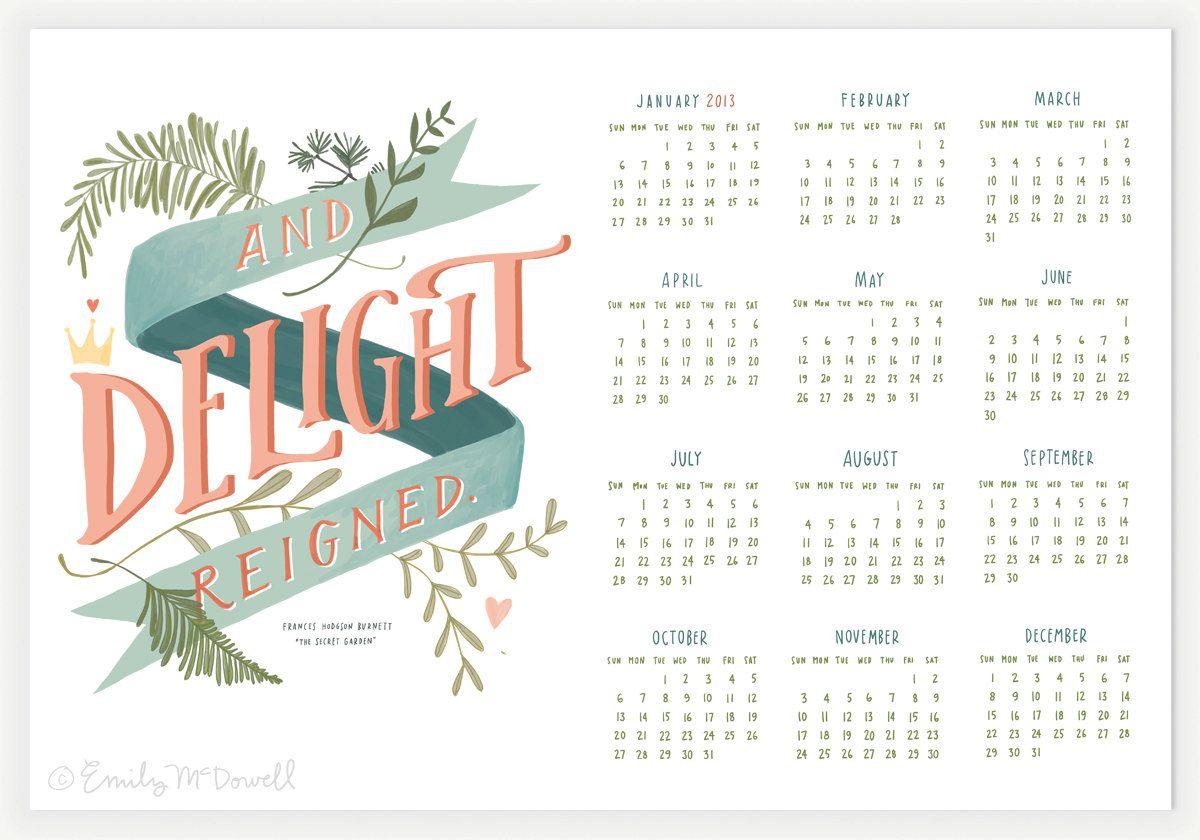 Calendar Design Quote : Inspirational quote wall calendar maude