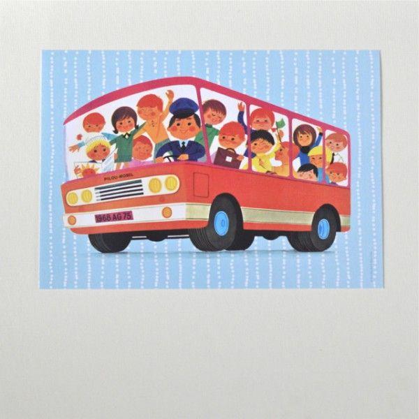 <p>Affiche Le bus imprimée sur papier de 220g, dessins d'Alain Grée , célèbre illustrateur des années 60 pour Fluoctopus, fabrication française. Pour faire un cadeau original ou se l'offrir et créer une joyeuse ambiance dans votre salon ou la chambre de votre enfant. On aime son format horizontal et son dessin rétro et coloré ! - deco-graphic.com