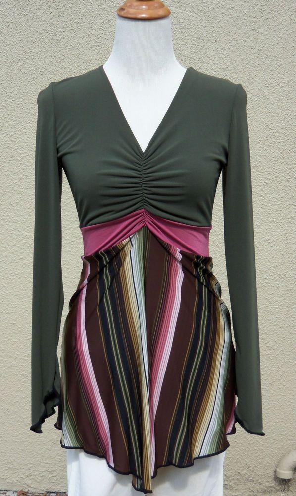 Autumn Teneyl Mulit Colored Striped Lolita Top Size Large Regular Price $110