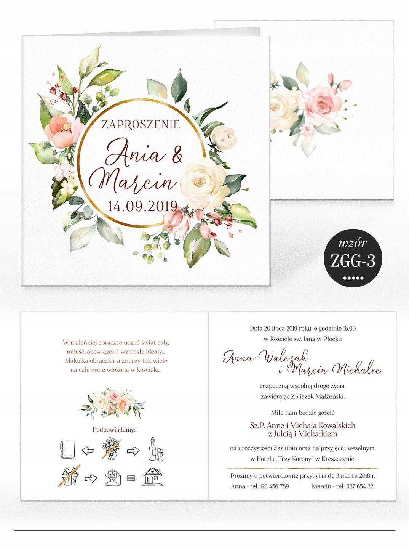 Zaproszenia Slubne Rustykalne Kwiaty Koperta Wedding Invitations Wedding Stationery Elegant Wedding Invitations