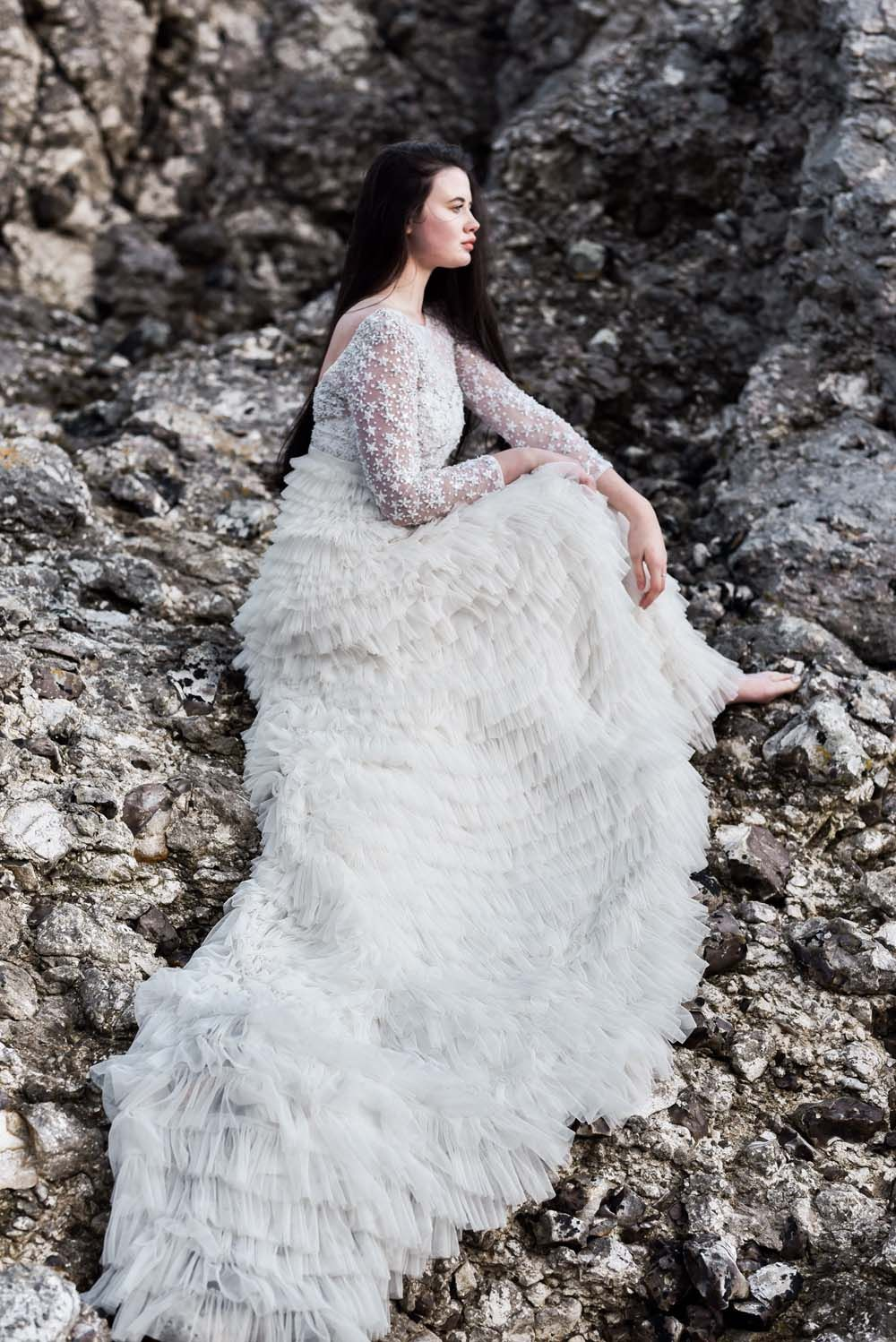 Moody Ethereal Wedding Ideas At The Dark Hedges As Featured In The Game Of Thrones Ethereal Wedding Wedding Dress Styles Beautiful Wedding Gowns