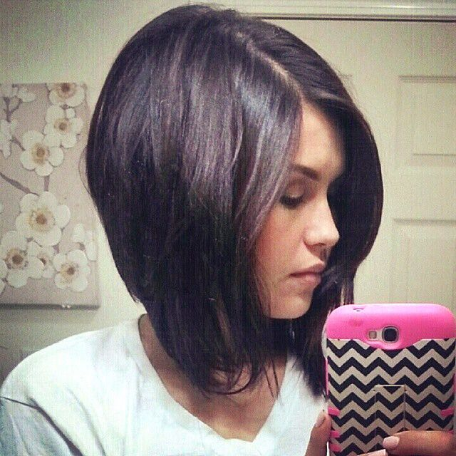 Bob high low | Hair | Pinterest | High low, Bobs and Haircut style