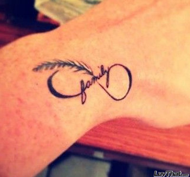 Family Text And Infinity Symbol Wrist Tattoog 800745 Pixels