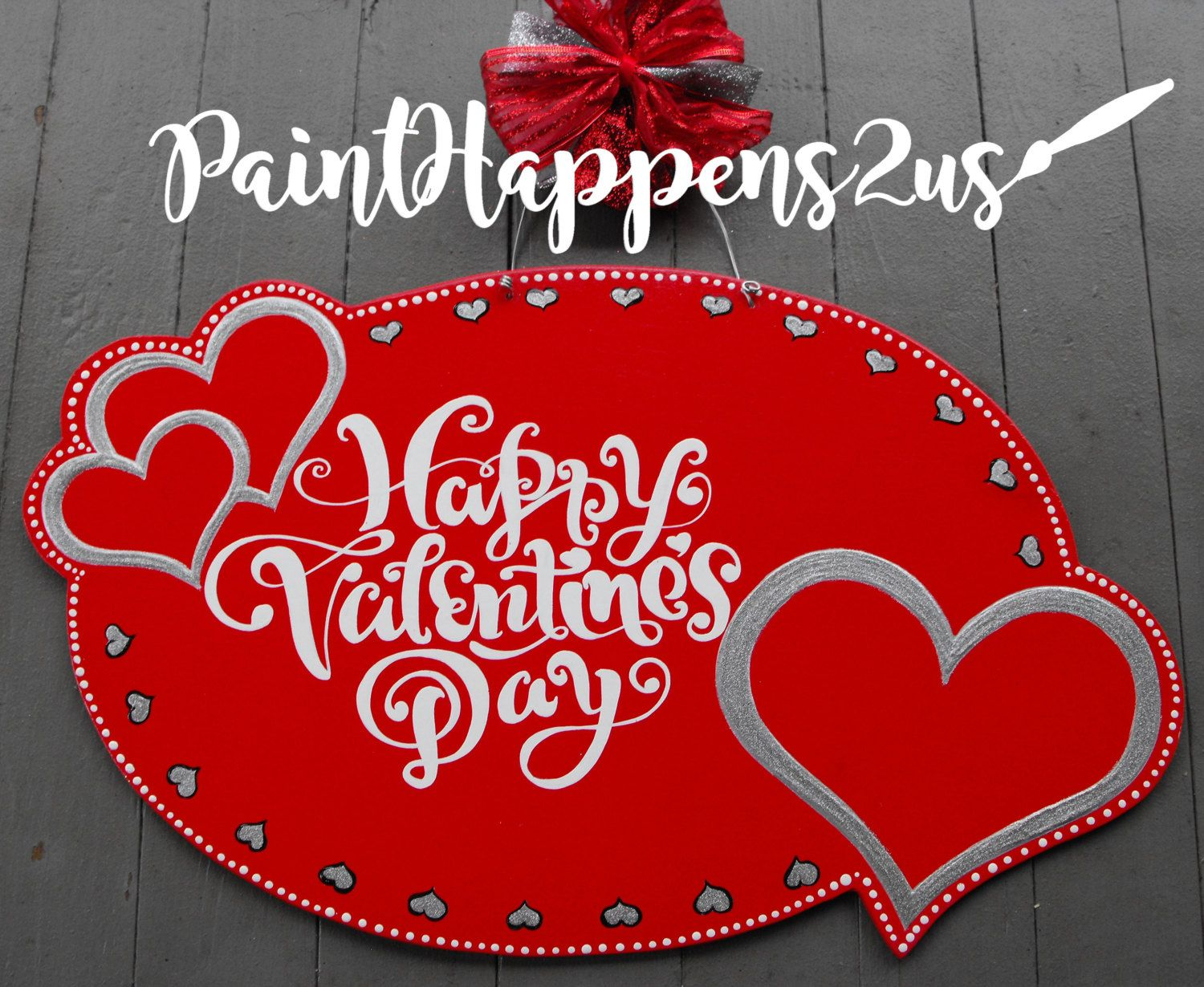 Valentine Heart Valentine Door Wall Hanger Valentine Be Mine Valentine Decor Valentines Day Wreath  Valentine Door Sign Painted by PaintHappens2Us on Etsy https://www.etsy.com/listing/488874592/valentine-heart-valentine-door-wall