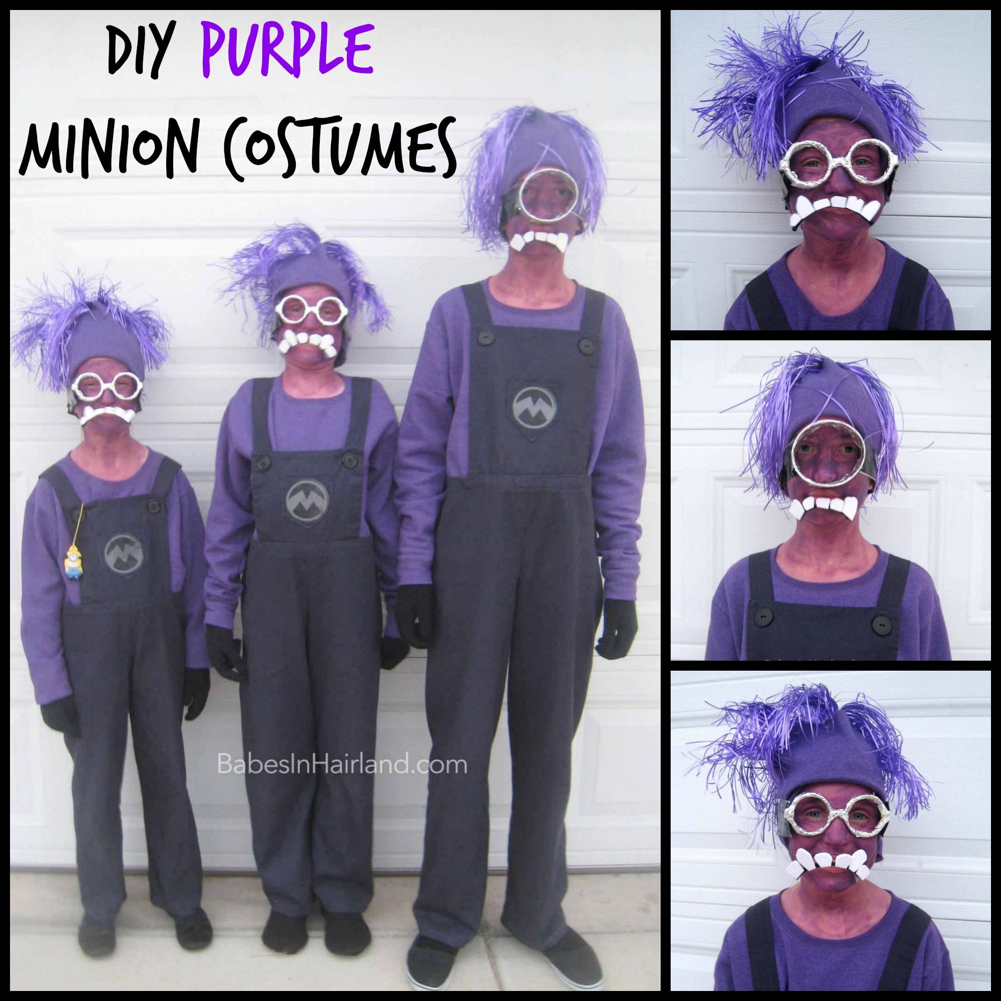 Coolest Homemade Purple Evil Minion Costume from Despicable Me ...