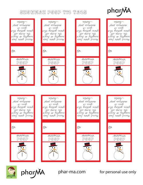 Snowman Poop Tic Tac Labels Christmas Print Ideas Snowman Poop