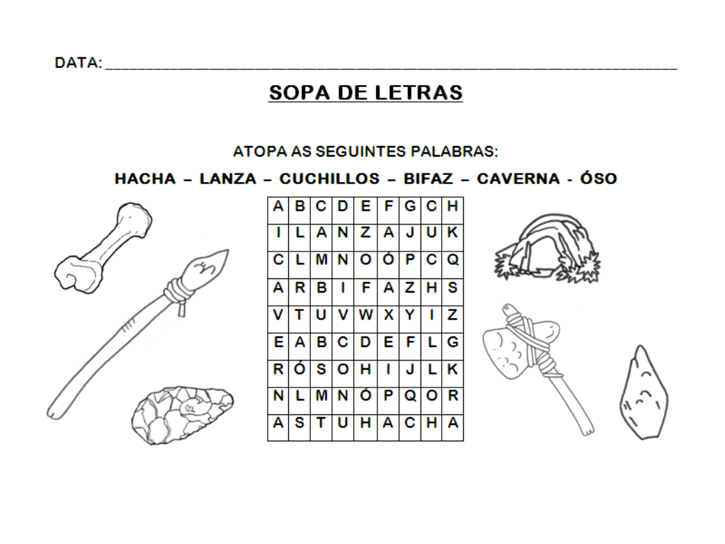 Sin T C3 Adtulo 14 Png 1024 768 Prehistoria Prehistoria Primaria Sopas De Letras Para Imprimir Gratis