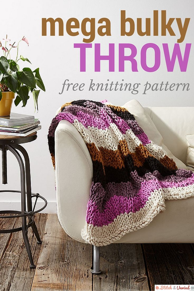 Free Pattern Friday: Knit Throw Pattern from Yarnspirations ...