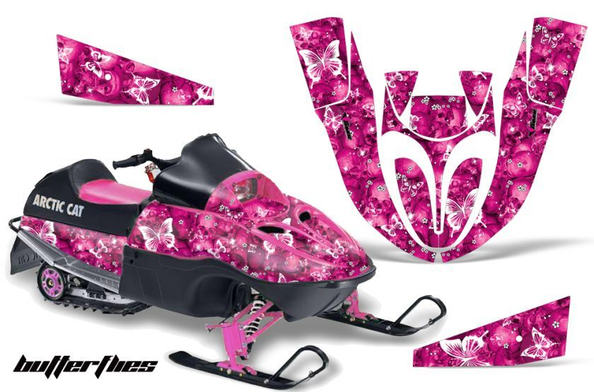 383af687a SNOWMOBILE DECAL SLED STICKER KIT ARCTIC CAT 120 SNO PRO YOUTH PINK ...