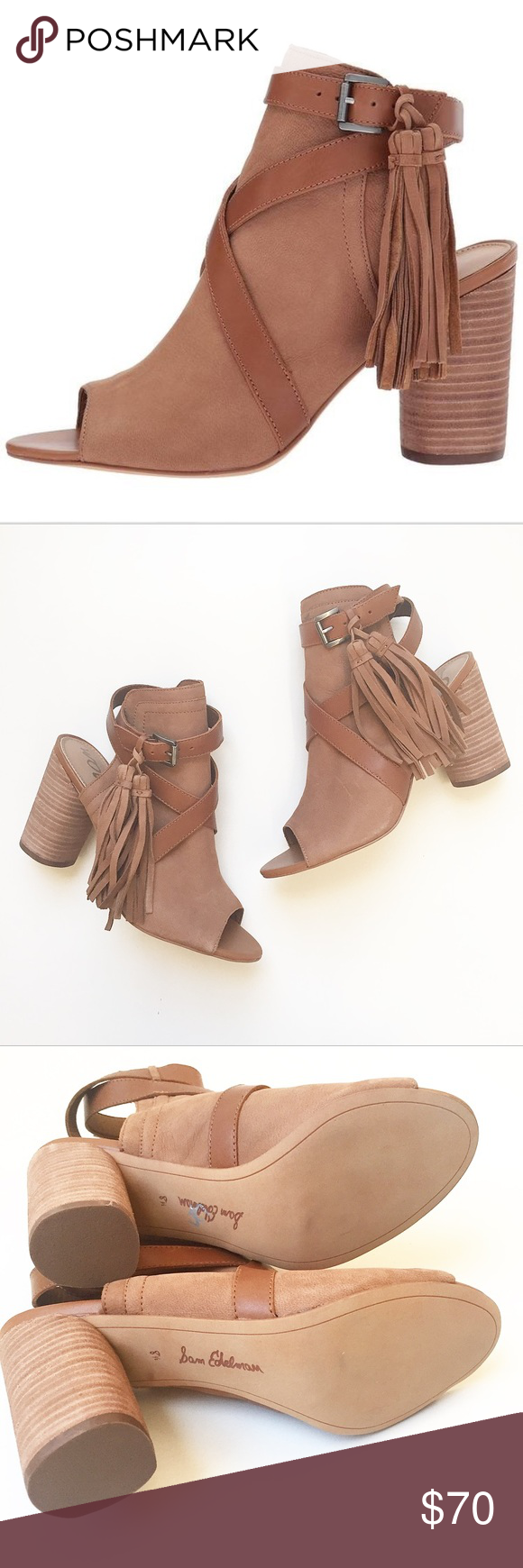 441ed6ff92d3bf Sam Edelman Vermont Peep Toe Tassel Booties Size 8 1 2 new without box Sam