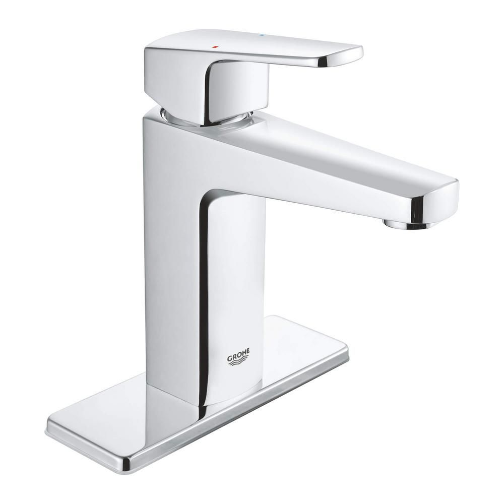 Grohe Tallinn 4 In Centerset Single Handle Bathroom Faucet In Starlight Chrome 23838000 The Home Depot In 2021 Single Handle Bathroom Faucet Bathroom Faucets Grohe [ 1000 x 1000 Pixel ]