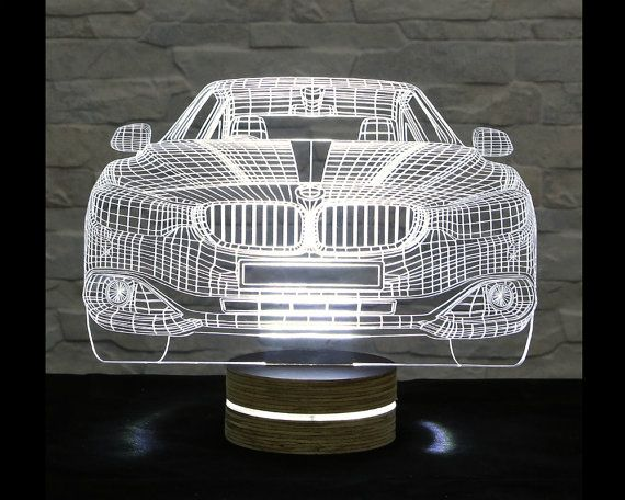 3d Led Lamp Car Shape Decorative Lamp Art Light Home Decor Table Lamp Office Decor Plexiglass Art Art Deco Lamp Ac Lamp Decor 3d Led Lamp Led Lamp Diy