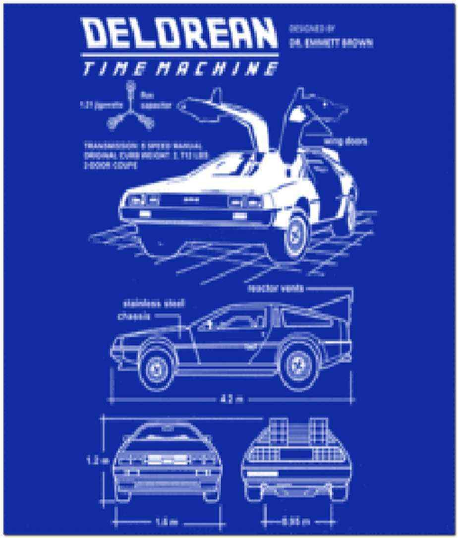 Delorean time machine blueprint t shirt buy now tweekage delorean time machine blueprint t shirt buy now tweekage malvernweather Image collections