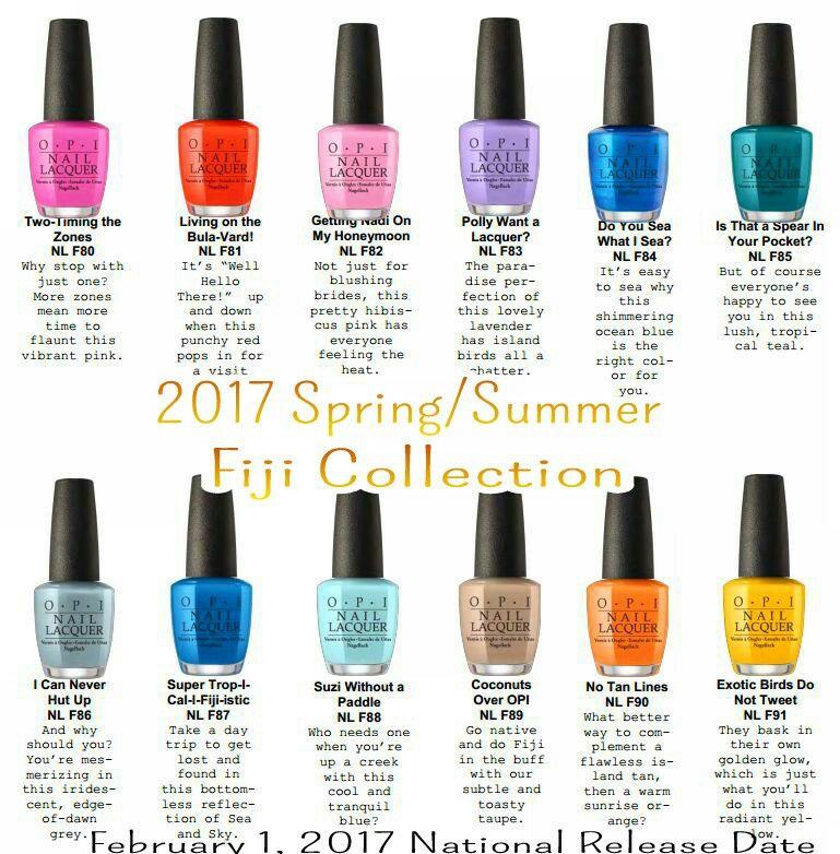 Nail Polish Colors Spring 2018 Opi: My Next Polish Collection OPI 2017