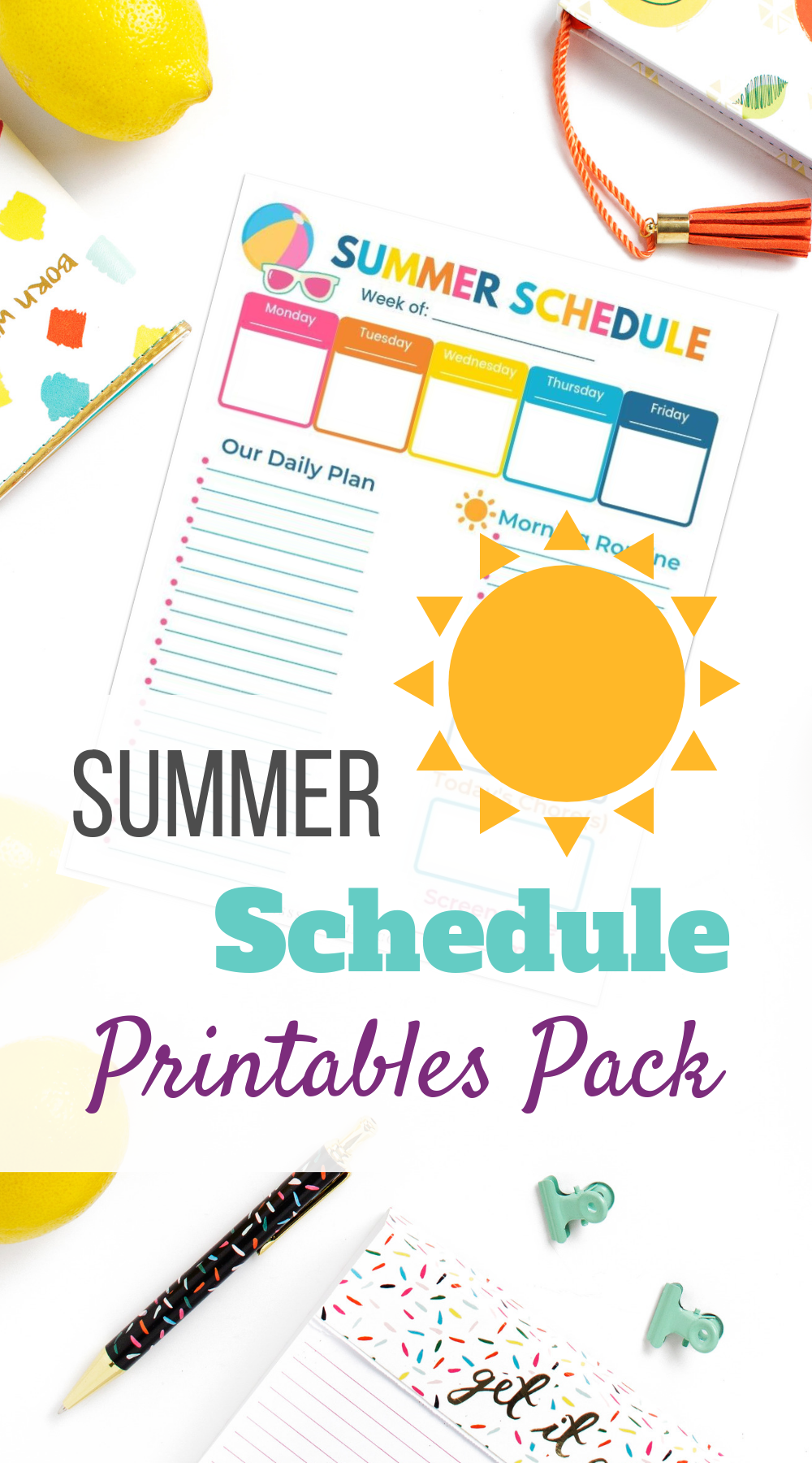 How To Get Your Kids Into A Daily Routine ~ Miss Sue Living #summerschedule
