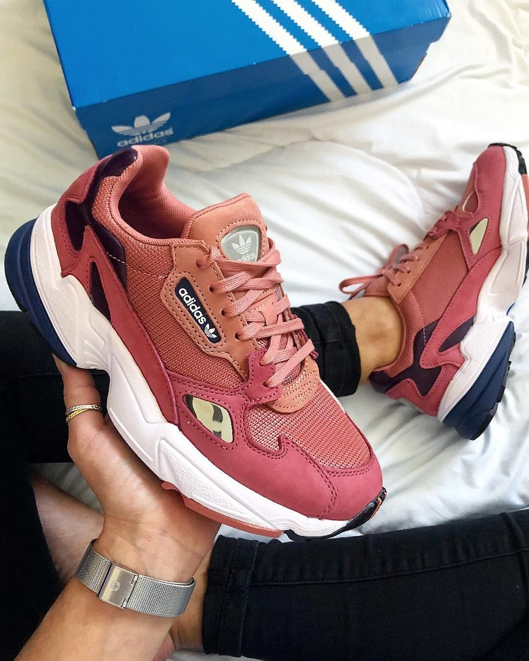 huge selection of 42c5a fe3a5 New 2018 adidas Falcon Shoes - Pink. The Falcon takes inspiration from 90s  running designs and the carefree, rebellious spirit of that decades art,  ...
