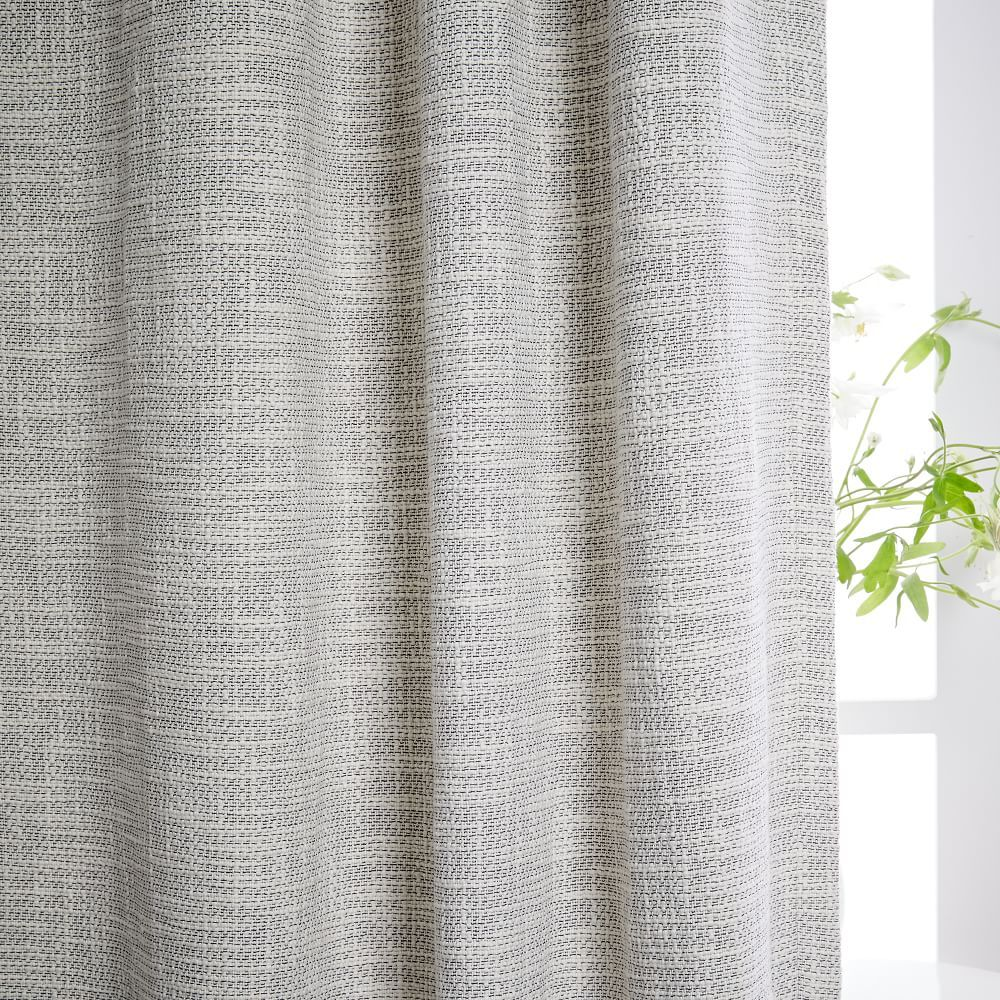 Cotton Textured Weave Curtain Amp Blackout Lining Ivory Cool