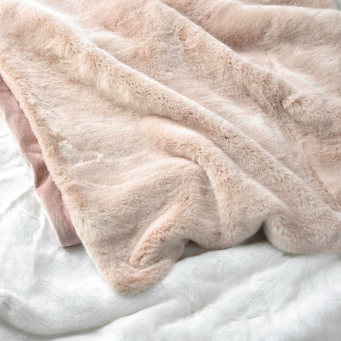 Blush Pink Throw Blanket Blush Pink Dusty Rose Gold Faux Fur Throw Blanket A Cozy Millennial