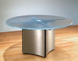 Round Glass Top Conference Table And Contemporary Meeting Tables - Round pedestal conference table