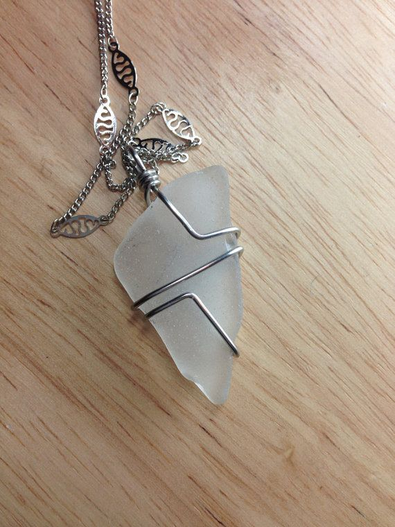 Sea Glass Jewelry  Wire Wrapped Beach Glass by SeaFindDesigns, $18.00   ---idea for making myself
