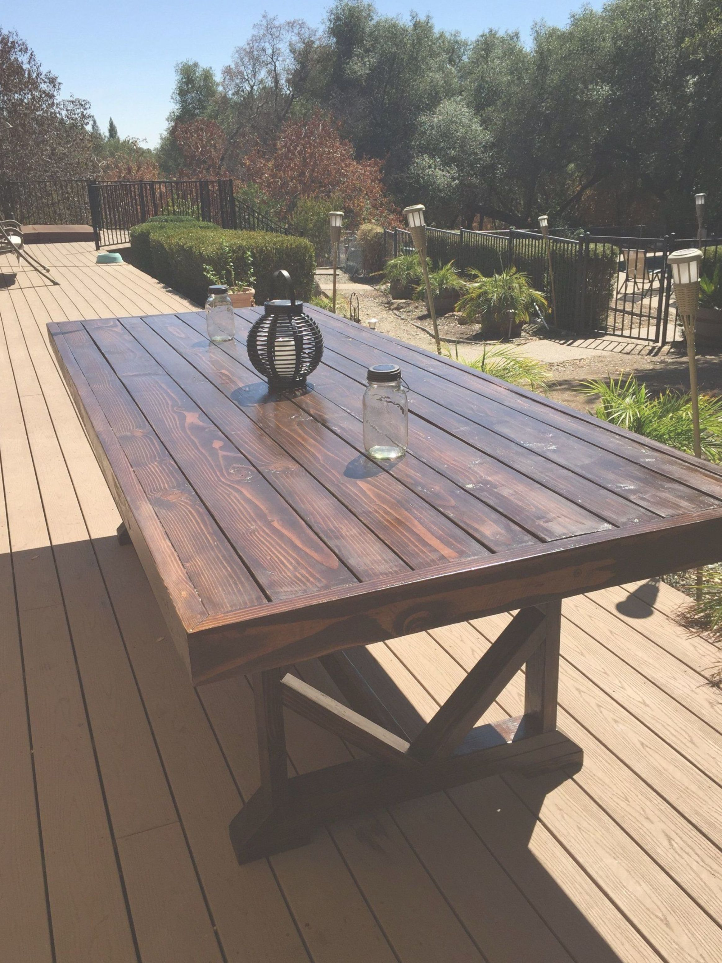 Diy Large Outdoor Dining Table Outdoor Dining Table Diy Outdoor Wood Table Wooden Outdoor Table