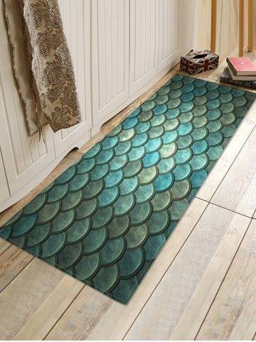 Mermaid Scale Print Bath Floor Mat Bath Floor Mats Rugs On Carpet Turquoise Bathroom Decor