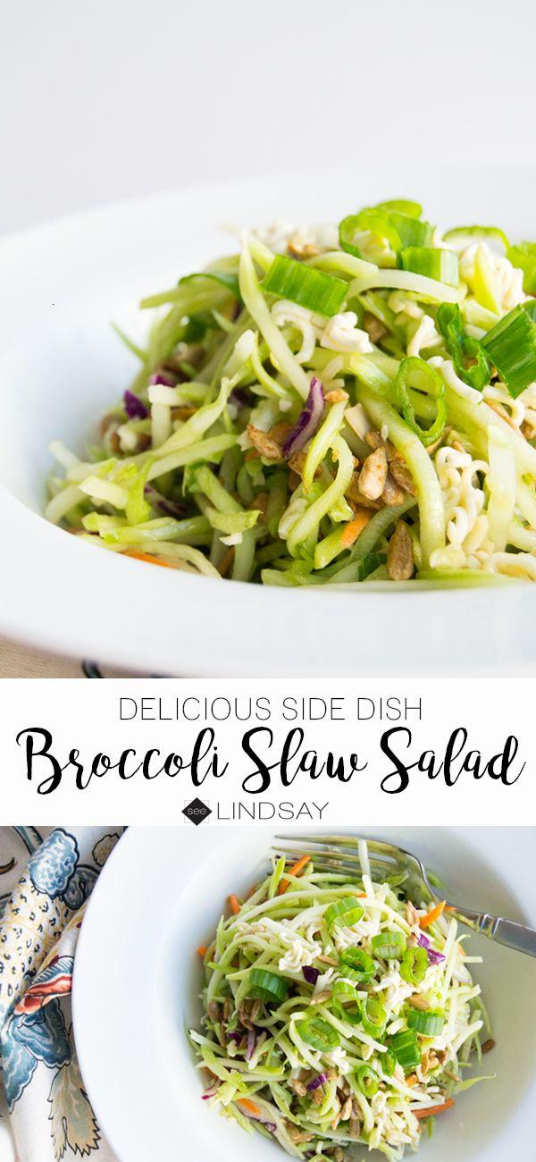 Broccoli Slaw Salad Recipe with Crunchy Ramen Noodles ...