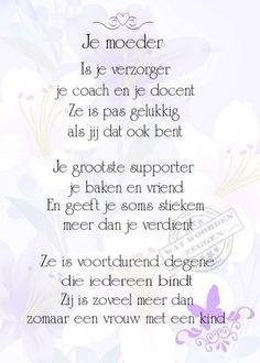 gedicht voor je moeder