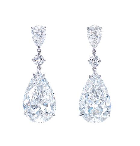 Pear Shape D Color Flawless Diamond Earrings Sold For 9 7