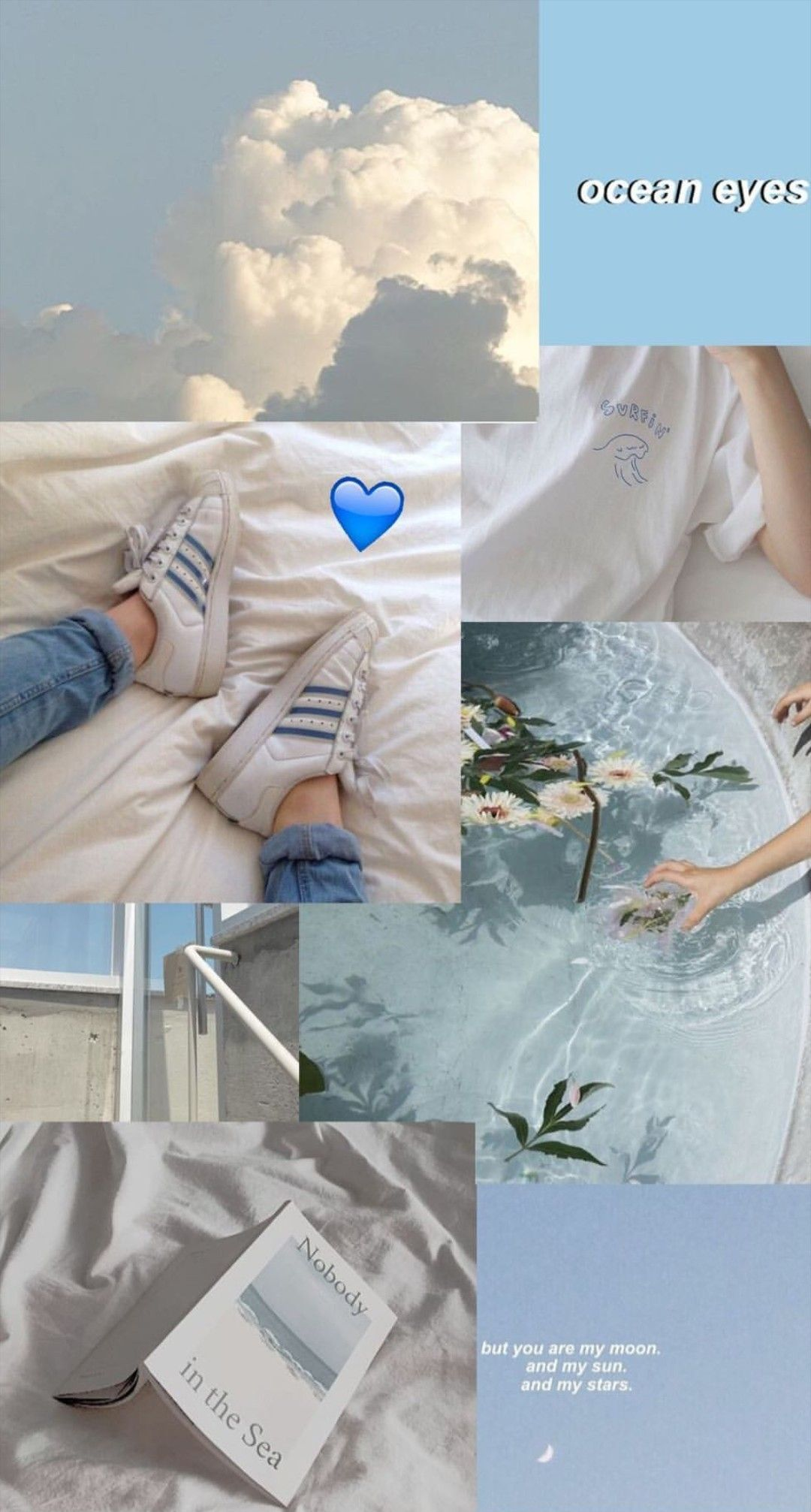 Pin By Moccacinoˊˎ On By Me Blue Wallpaper Iphone Wallpaper Tumblr Lockscreen Aesthetic Pastel Wallpaper