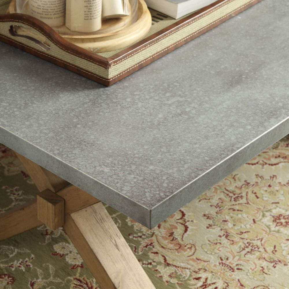 Shop Best Master Furniture Weathered Oak Sleigh: INSPIRE Q Aberdeen Industrial Zinc Top Weathered Oak