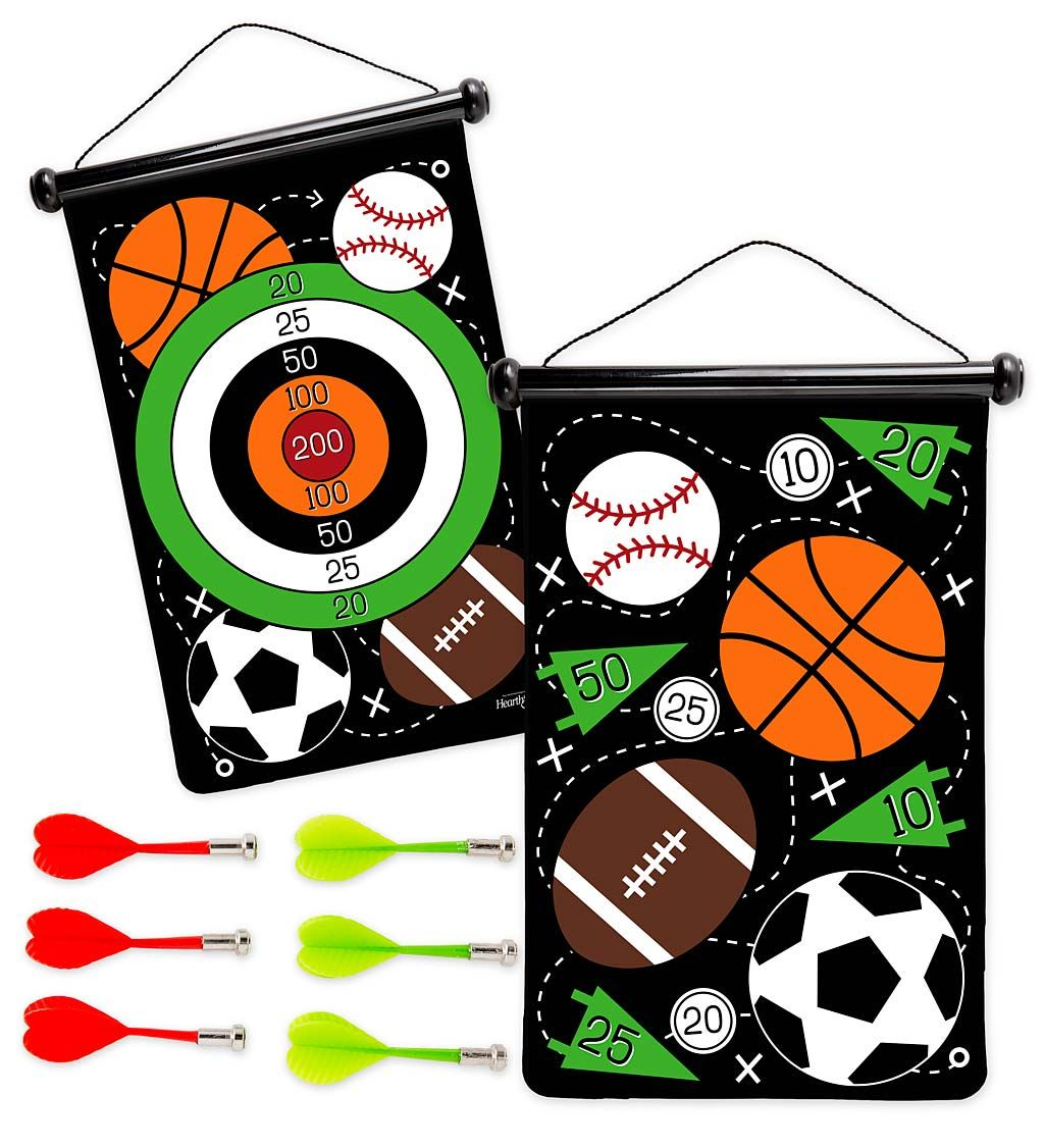 Double Sided Magnetic Target Game Dart Board Dart Set