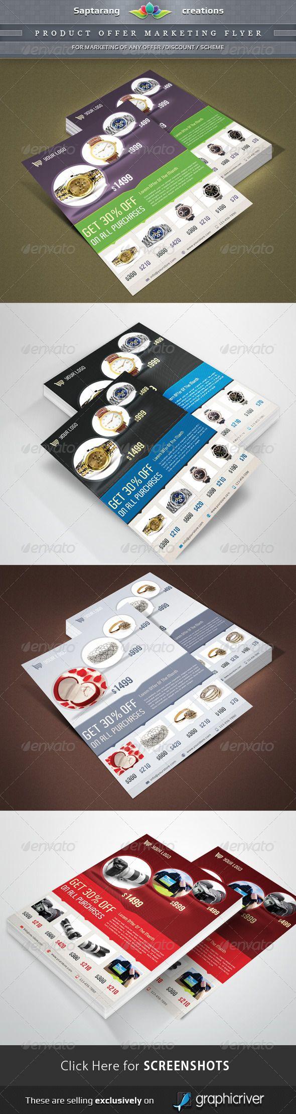Product Offer Marketing Flyer Marketing Flyer Pinterest