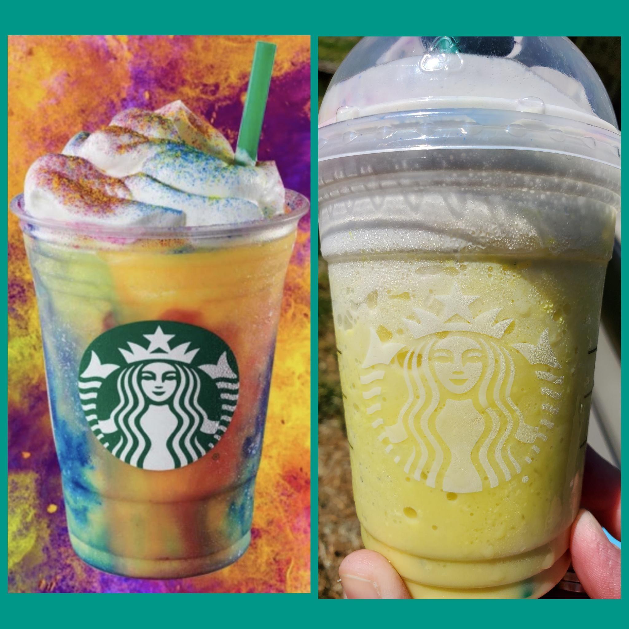Starbucks tiedye frappuccino... 😂 Starbucks tiedye