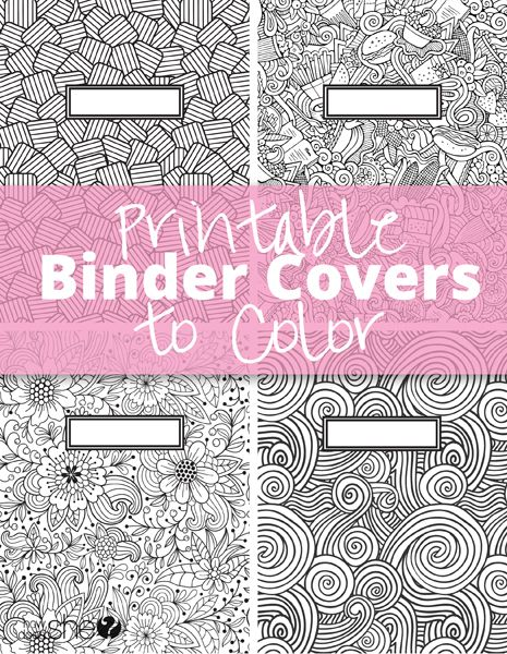 Printable Binder Covers to Color: Free Download for Back-to-School ...
