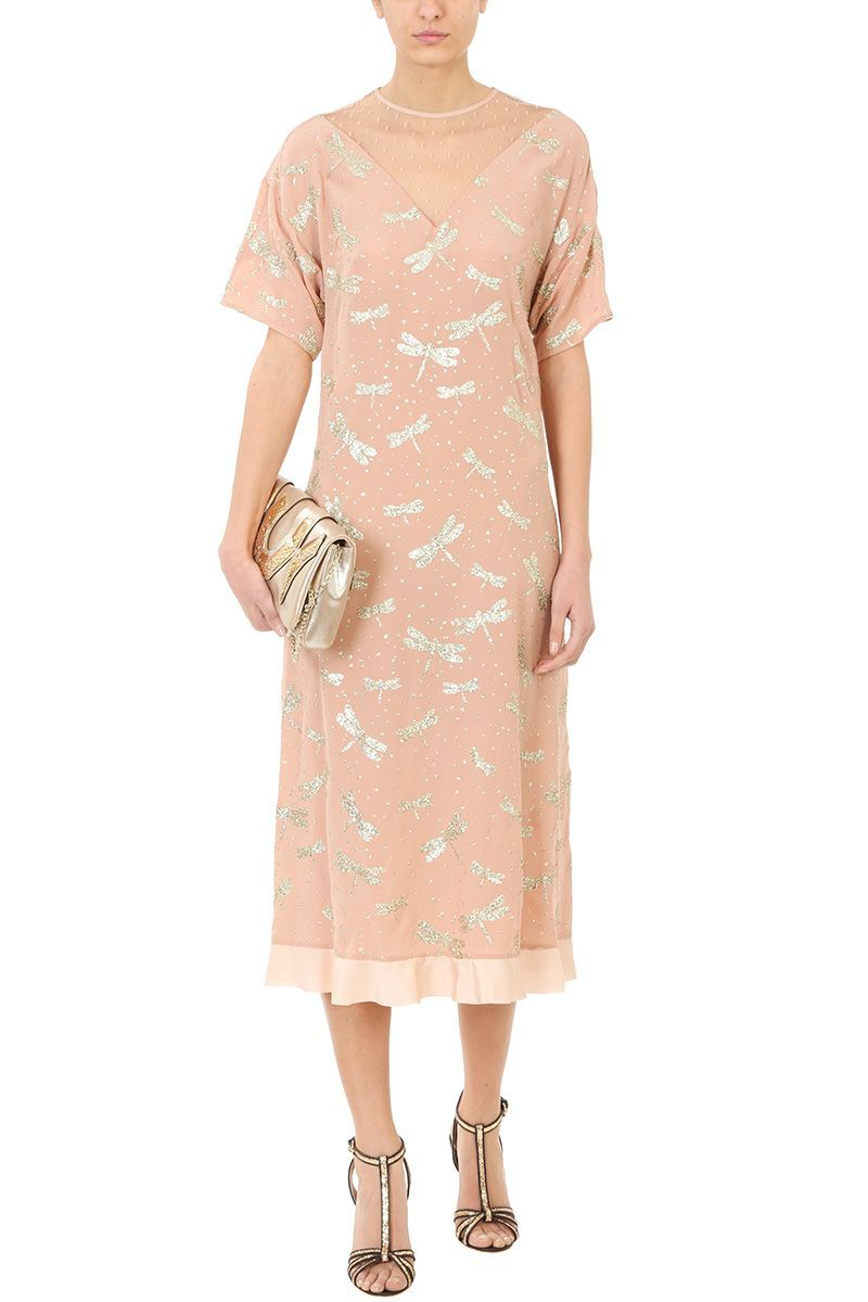 glitter dragonfly dress - Pink & Purple Red Valentino iWFKTG