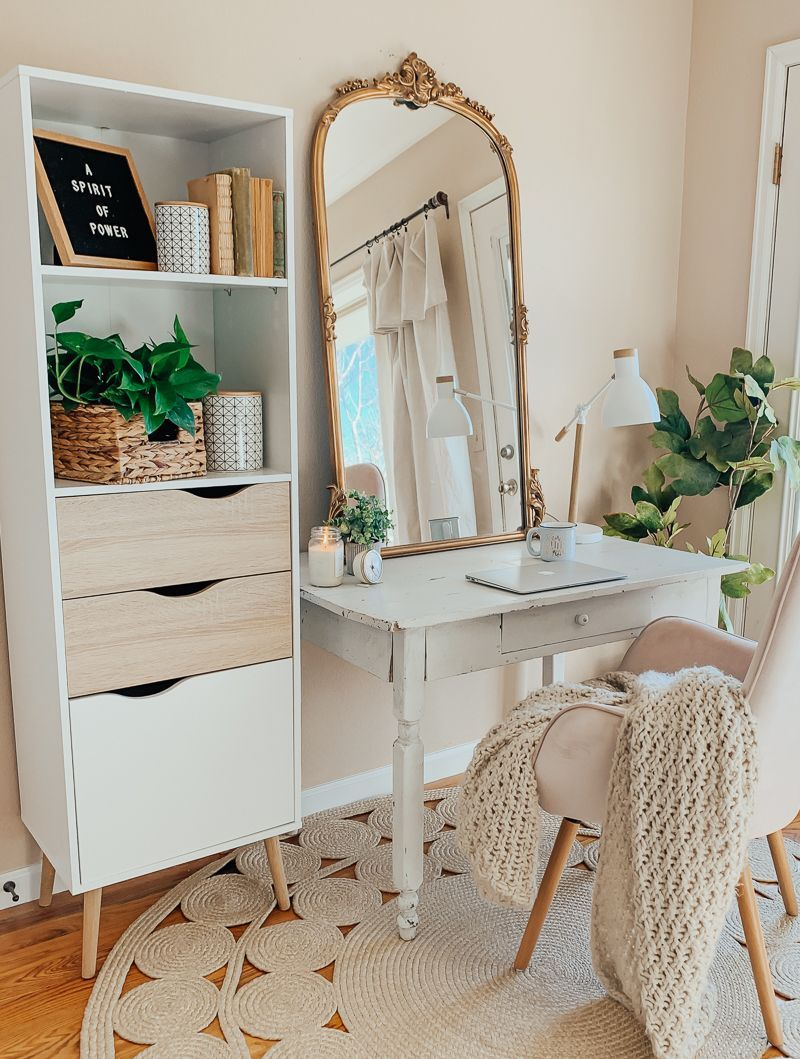 Simple + Organized Work Space, #diseñodedormitorio # ...