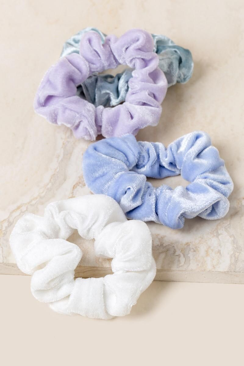 Safia Velvet Scrunchie Set | Francesca's - Hair Beauty