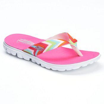 Womens flip flops, Skechers on the go