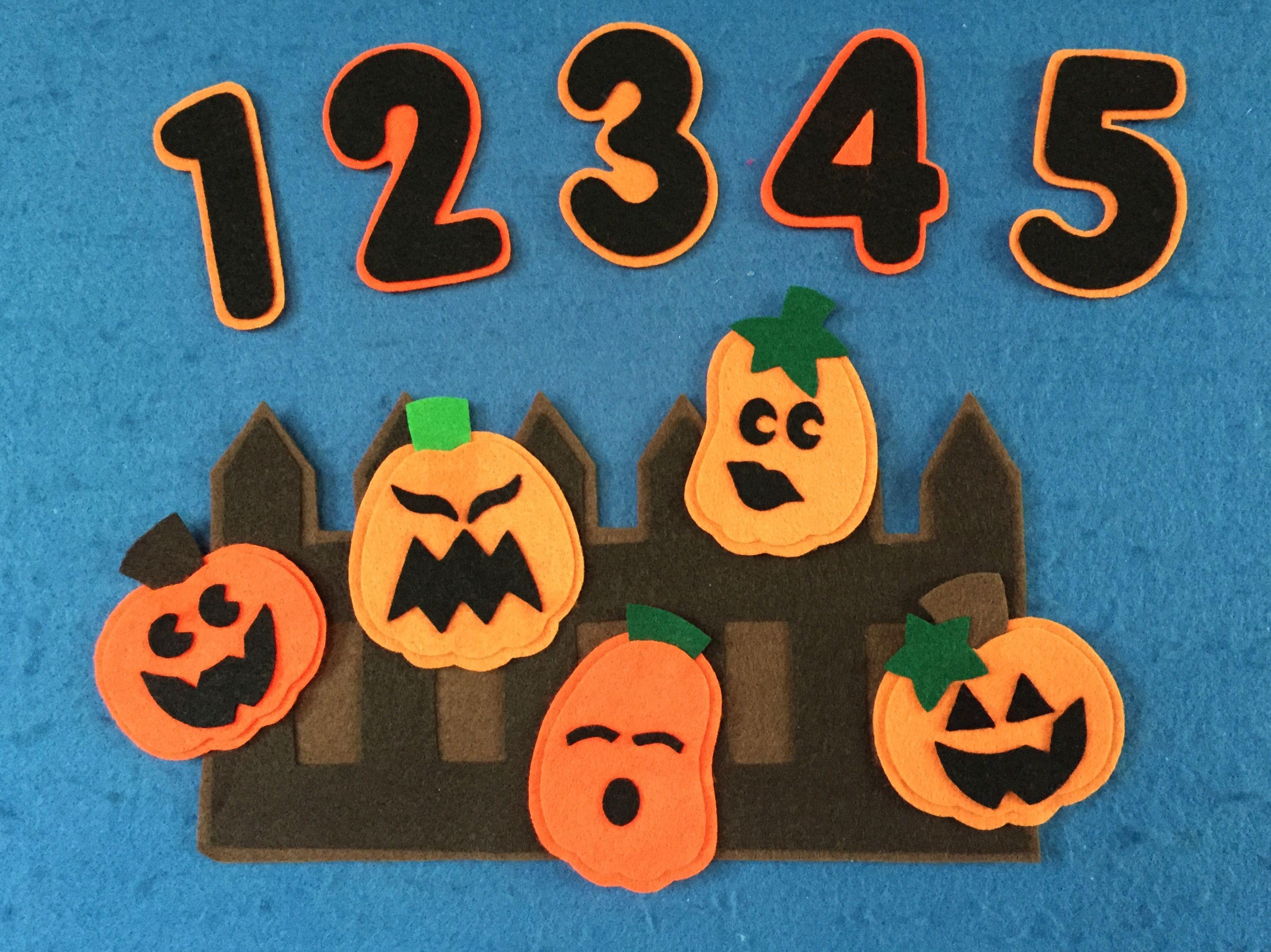 5 Little Pumpkins Felt Board Set