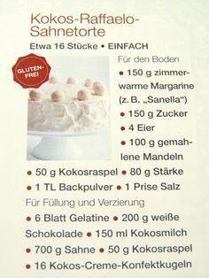 Glutenfreie Kokos-Raffaelo-Torte ... und warum ich mit Torten auf Kriegsfuß stehe ...