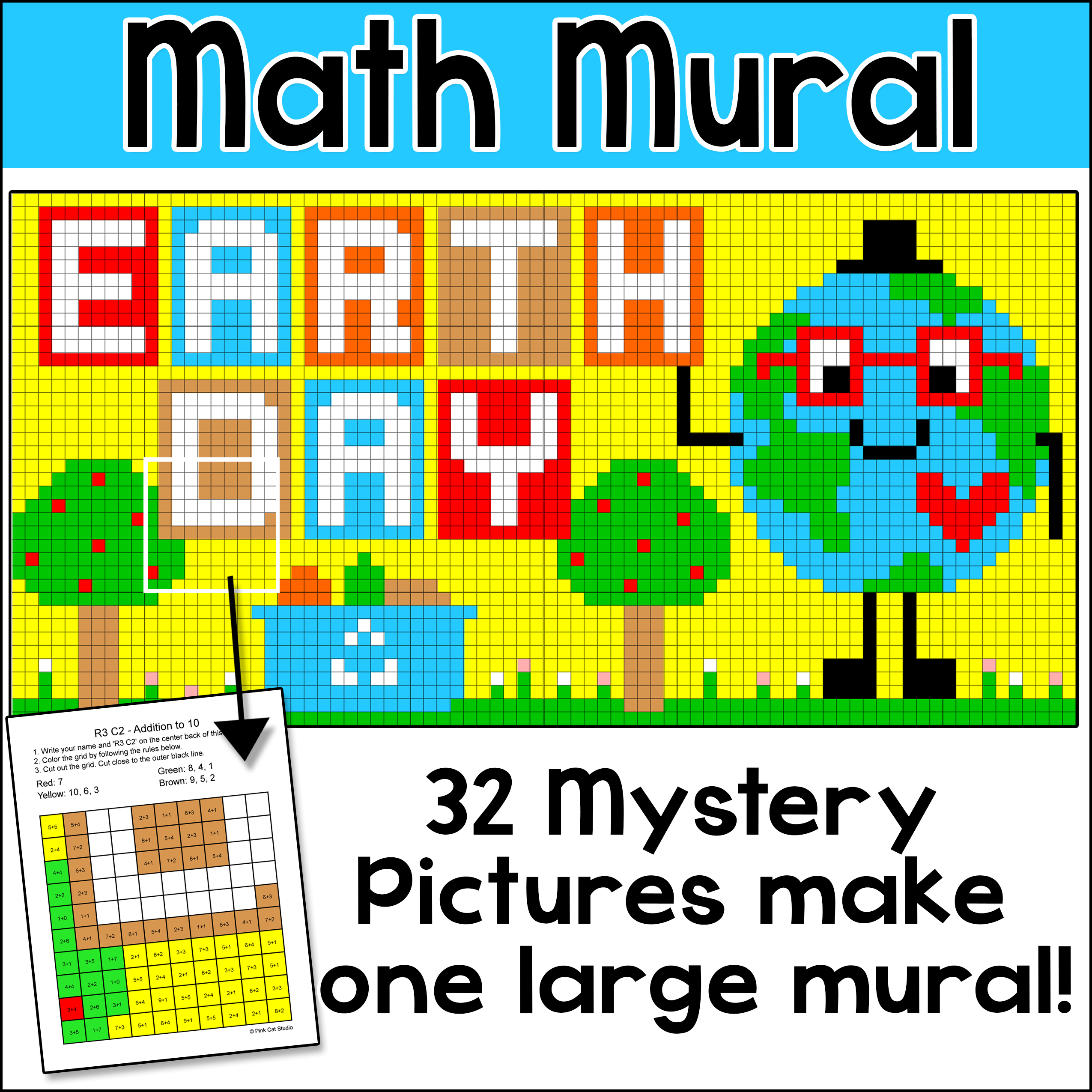 Earth Day Math Color By Number Mystery Pictures Mural