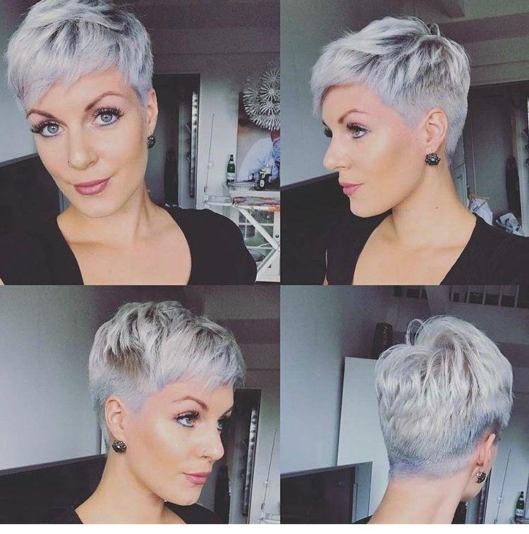 Skort Pixie With Parts Shaved Frisuren Kurze Haare Braun Haarschnitt Kurz Kurzhaarfrisuren