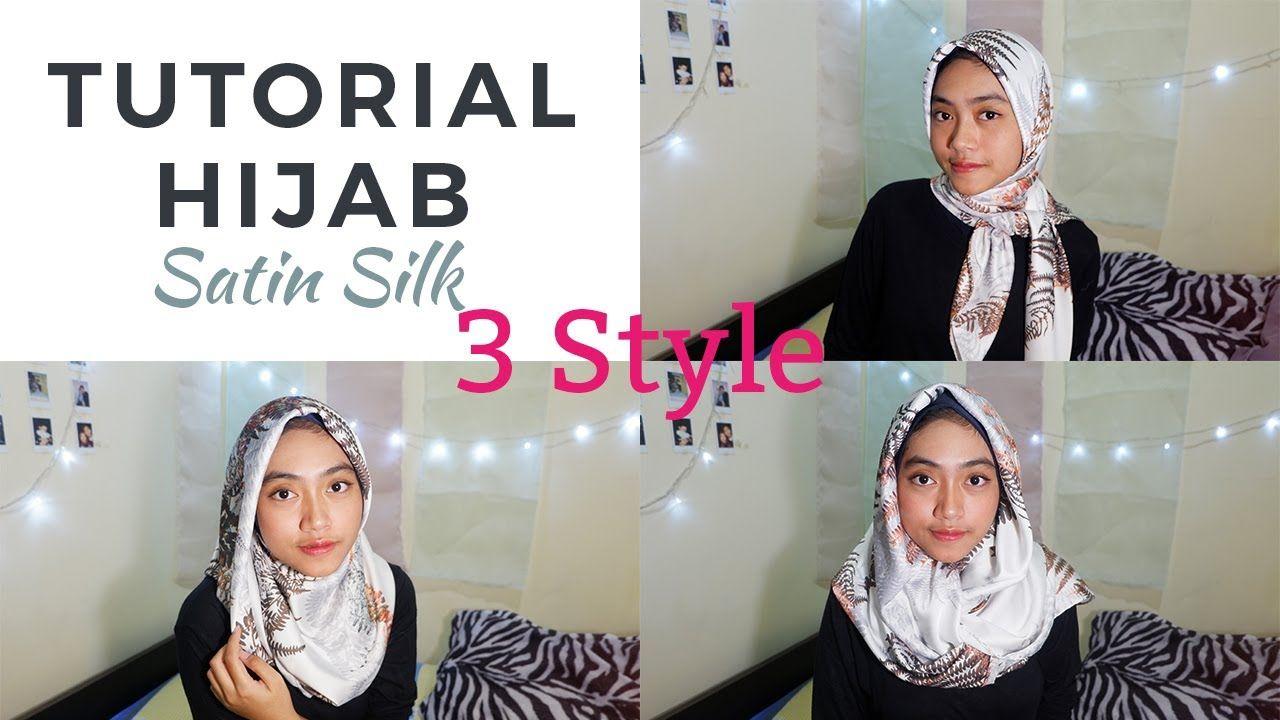 Tutorial Hijab Segi Empat Yang Licin  Kursus hijab, Kain, Gaya hijab