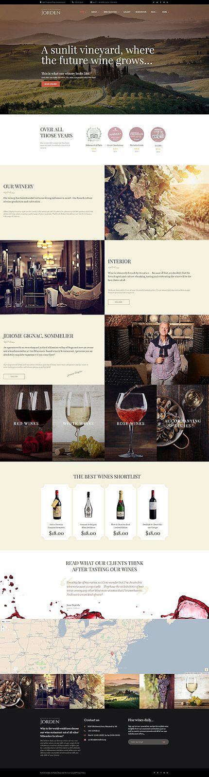 $75 - Jorden Wine Wordpress Theme | Shopify | Pinterest | Pagina web ...